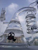 bong en verre de 8,5 pouces achat en gros de-Verre bong recycleur dab rig tuyaux d'eau 8,5 pouces nid d'abeille percolateur verre barboteur enivrant Tuyau livraison gratuite