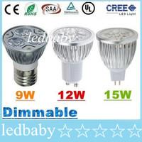 Wholesale spotlight bulb sale for sale - Group buy 50 Sale Off CREE W W W Led Spot Bulbs Light E27 E26 B22 MR16 GU10 Led Dimmable Lights Lamp Warm Natrual Cold White AC V V