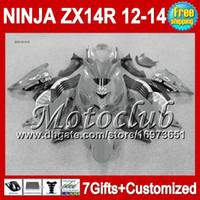 Wholesale Kawasaki Ninja White Grey - 7gifts For KAWASAKI NINJA ZX-14R Grey black 12-13 25C105 ZX 14R 12 13 12 13 ZX14 R Grey white ZX14R 2012 2013 2012 2013 ZX 14 R Fairing
