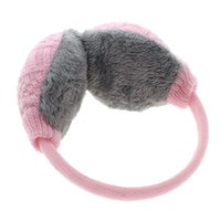 Wholesale woman winter ear cover - Wholesale- New Style Winter Earmuffs Women Warm Unisex Ear Cover Knitted Plush Earwarmers