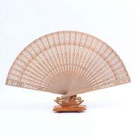 Wholesale Best Hand Fans - Free shipping,Wholesale 600pcs lot Elegant Folding Wooden Hand Fan Wedding Party Favors Best Gift 20cm