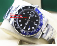 Wholesale Asia Watches - Luxury High Quality Watch 40mm GMT Ceramic Bezel 116710 LN 116710LN 116710blnr Stainless Steel Asia 2813 Movement Automatic Mens Watches