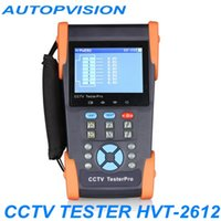 Wholesale Optical Cable Camera - HVT-2612 CCTV security camera tester monitor Optical fiber power meter cable tracer IP address POE ping testing