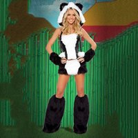 Sexy Panda Design Tight Suit Halloween Party Performance Cosplay Anime Kostüm DS Kleidung BLS3149