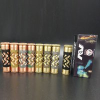Wholesale copper electronics mods online - AV ABLE MOD Copper and Brass AV Style E Cig Electronic Cigarette Mechanical Mod Fit battery Colorful DHL Free