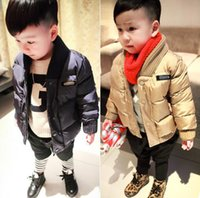 Wholesale Padded Coats For Boys - Baby Boys Jacket 2018 Winter Jackets For Boys Outerwear Coats Children Bomber Jacket Kids Warm Cotton-Padded Clothes