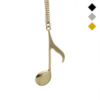 Trusta 2017 Hot Women Fashion Jewelry Gold / Silver / Black Tone Music Notes Pingente Meninas Kids Gift Short Necklace EG043