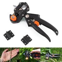 herramientas de injerto de cuchillas al por mayor-Tijeras de podar Garden Fruit Tree Pro Tijera Herramienta de corte de injerto + 2 cuchillas