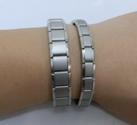 Wholesale Titanium Health Bracelets - Fashion health Titanium bracelets for men and women to treat arthritis exercise energy bracelet