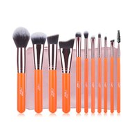 Wholesale aluminium makeup - Msq 11pcs Makeup Brushes Set Rose Gold Aluminium Make Up Brush High Quality Synthetic Hair with Pu Leather Case Cosmetic