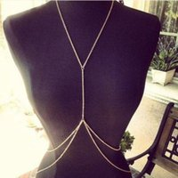 Wholesale sexy body necklace - Belly Chains Ladys Sexy 18K Gold Body Belly Waist Chain Bikini Beach Harness Necklace Women Double Layer Body Chains Body Jewelry Free DHL