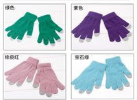 Wholesale Variety Screening - Wholesale-NEW variety of color TOUCH SCREEN MOBILE PHONE WINTER GLOVES the IPHONE
