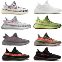 Wholesale Best Quality Cotton - 8 colors best quality SPLY 350 V2 boost Semi Frozen gum sole zebra cblack red running shoes boost mens Sneakers US size 6-13