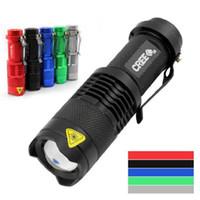 led-taschenlampen großhandel-5 farben blitzlicht 7 watt 300lm cree q5 led camping taschenlampe einstellbarer fokus zoom wasserdichte taschenlampen lampe kostenloser versand