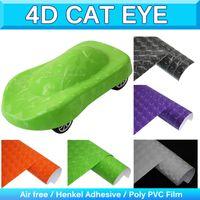 Wholesale Flexible Mirror Doors - Textured 4D Cat Eye Vinyl Wrap Wrapping Film Structured 4D Vinyl Flexible Car Wrap Sticker Film Bubble Air Free 1.52x30m 5x95Ft