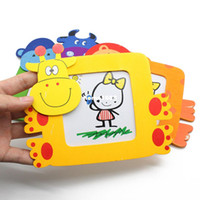 Wholesale Baby Wooden Picture Frame - 10Pcs Set Hot sale! Novelty Magic Wood Wooden Children Baby Small Cartoon Photo Frames With The Holder Picture Frame