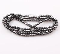 Wholesale Hematite Magnets Wholesale - Hot sale 4mm Magnetic Hematite Round Beads Magnetism Magnet Hematite Balls Fit Shamballa Bracelet Necklace ZBE11