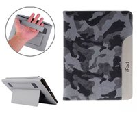 Elegant Camouflage Pattern Smart Cover Housse en cuir avec Holder Card Slots Hand Strap pour Apple iPad 2 3 4 5 5 Air Air2 iPad5 iPad6