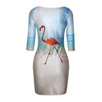 Wholesale Galaxy Space Casual Dresses - Women Sexy Fashion Slim Fit 3D Animal Print Space Galaxy Bodycon Mini Dress