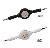 Wholesale Extension Plus Male - Stereo 3.5mm to 3.5 Audio Flexible Extension Cable Male Retractable Aux Music Line for iphone 6 plus for Sansung LG