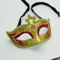 maskeli kukla için maskeler toptan satış-Festivali Renk Prenses Parti Maskesi Altın Dantel Venedik Masquerade Ball Lady Cosplay Maske Cadılar Bayramı Dekorasyon SD927