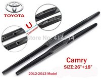 """Wholesale Wiper Blade Pair - Car wiper blades for Toyota camry 2012-2013 26""""+18"""" Soft Rubber WindShield toyota Wiper blade 2pcs PAIR,Free shipping"""