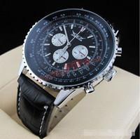 Wholesale Automatic Multifunction Watches - Luxury Brand Jaragar Automatic Watch Men 6 Hands Mechanical Watches Men Multifunction Wristwatch PU Leather Erkek Kol Saati