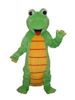 Wholesale Lizard Halloween Costume - Factory Outlets new fashion Happy Lizard Dinosaur Halloween Fancy Dress Cartoon Adult Animal Mascot Costume free shipping