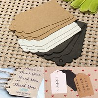 Wholesale 100Pcs Label Paper Tag Gift Hang Price Blank Karft Wedding Party Dessert Drawing Marking Decor Card Craft A3