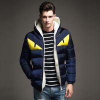 büyük erkek kış ceketleri ceketleri toptan satış-Marka Kış Ceket Erkekler Büyük Boy M-4XL Ile Yeni Varış Rahat Ince Pamuk Kalın Erkek Ceket Parkas Kapşonlu Sıcak Casaco Masculino