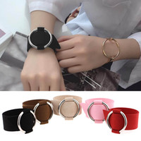 Wholesale Invisible Han - accessories wholesale Minimalism wind circular Ring fashion bangle bracelet Fashion han edition hollow out circle bracelet