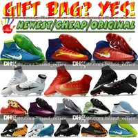 Wholesale Boot Cross - Mens High Ankle Football Boots Mercurial Superfly V CR7 FG Neymar JR Soccer Shoes Hypervenom Phantom TF Indoor Magista Obra II Soccer Cleats