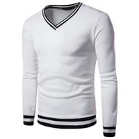 Wholesale wholesale streetwear sweatshirts - Stylish Brand Design Men's Casual Hoodies Solid Color Men V-neck Long Sleeve Men's Long Hoodie Sweatshirt Men Streetwear Hoodies