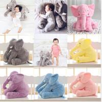 Wholesale Baby Sleeping Cushions - Cartoon 65cm Large Plush Elephant Toy Kids Sleeping Back Cushion stuffed Pillow Elephant Doll Baby Doll Birthday Gift for Kids