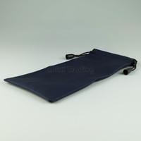 lacivert deri çantalar toptan satış-Lacivert PU Deri Kılıfı Iyi Dokunmatik Duygu Imitasyon Deri Gözlük Çantası Yumuşak Taşıma Torbalar 50 adet Ücretsiz Gemi