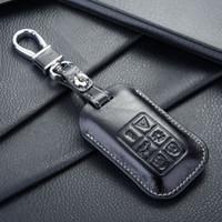 volvo araba anahtarı kabuğu toptan satış-FOB deri anahtarlık kılıfı için Otomatik volvo anahtar kılıfı kabuk anahtar sahipleri için cüzdan çanta anahtarlık aksesuarları volvo arabalar