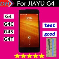 Wholesale Jiayu G4 Lcd Screen - Wholesale-Jiayu G4 LCD Display+Touch Screen Digitizer Replacement Assemble For JIAYU G4 G4S G4T G4C Touch Pane+Free Shipping Black