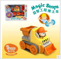 Wholesale Cars Combine - Wholesale Learning engineering truck mixer small men combined electric magnetic toy model Cars Vehicle Magic Toys 1:48
