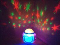 christmas stars para venda venda por atacado-Venda quente Relógios de Mesa Música Colorida Céu Estrelado Estrela projetor projetor Despertador Calendário Termômetro Presentes de Natal