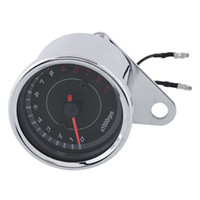 Wholesale Hot Universal Motorcycle Motorbike Backlight LED V Tachometer Speedometer Tacho Gauge High quality