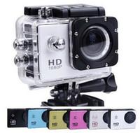 Wholesale Sports Hd Waterproof Dv Camera - LCD Screen 1080P Full HD Action Camera 30M Waterproof Camcorders SJcam Helmet Sport DV Car DVR 5pcs SJ4000 style A9 2 Inch