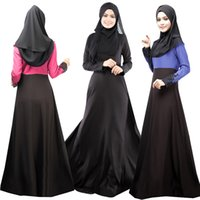 Wholesale Pluse Size Dresses - New Autum Winter Fashion Womens Kaftan Abaya Islamic Muslim Ethnic Elegant Long dress Lace Crochet Vintage pluse size Casual Maxi dress