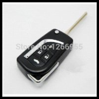 Wholesale Toyota Car Key Shell Price - Free shipping for 4button Blank modified flip folding remote key shell for Toyota Camry with best price S037 car