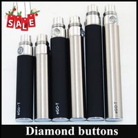 Wholesale Diamond Clearomizer - EGO-T battery for Electronic Cigarette E-cig Ego-T 510 Thread match CE4 CE5 clearomizer 650mah 900mah 1100mah Diamond Buttons battery DHL