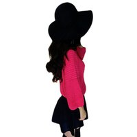 Wholesale S5Q Women s Winter Classic Vintage Woolen Blower Jazz Hat Trilby Style Cap Hats AAADYM