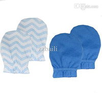 Wholesale Cheap Newborn Stuff - Wholesale-2Pairs Newborn Baby Mittens Cute Baby Scratch Mittens Infant Baby Gloves for 0-6 months Baby Products Supplier Cheap Stuff