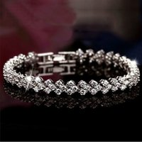 Wholesale Crystal Rome - Rome star with zircon bracelet jewelry female zircon crystal bracelet jewelry wholesale jewelry Valentine's Day gift