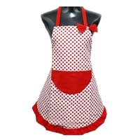 Wholesale Cute Cooking Aprons For Women - Delicate New Cute BowKnot Kitchen Restaurant Cooking Aprons With Pocket for Women Hot Selling