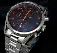 reloj de pulsera calibre 16 al por mayor-Marca suiza de lujo Calibre casual 16 CAL 1887 Relojes Hombres Cronógrafo de cuarzo Moda Hombres Reloj de pulsera de acero inoxidable Hebilla original