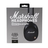 Wholesale audio monitoring for sale - Group buy Marshall Monitor Bluetooth Wireless HiFi Headsets audio helmet On Ear Wireless Headphones With Retail Box Hot Selling